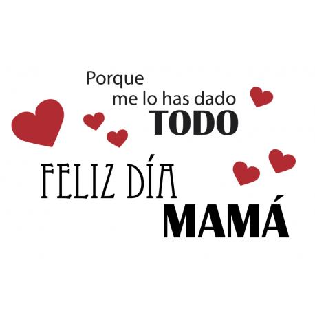 pegatina decorativa Feliz Día Mamá