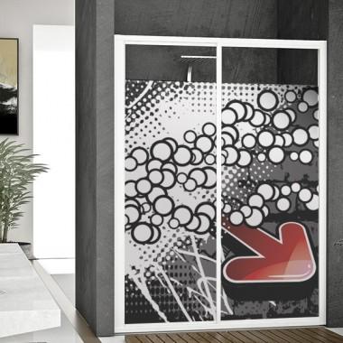decoración de cristales Vinilo translúcido impreso Underground