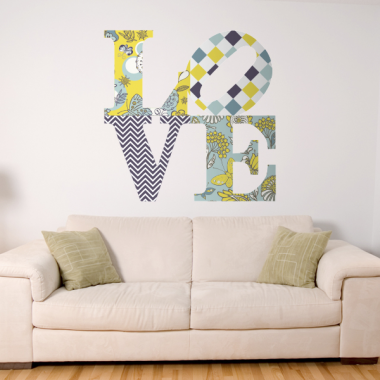 adhesivo decorativo Floral Love