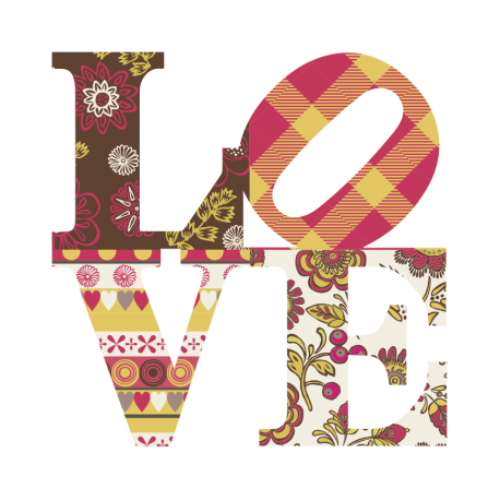 Love Estampado decoración con vinilo