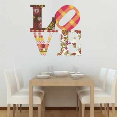 Love Estampado adhesivo decorativo ambiente