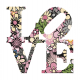 vinilo decorativo Floral Love II