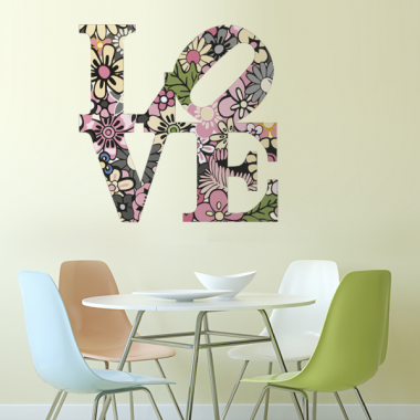 vinilo decorativo Floral Love II