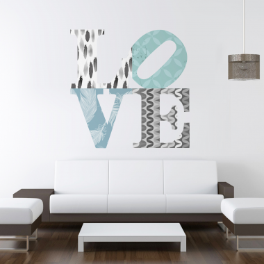 adhesivo decorativo Love Estampado I