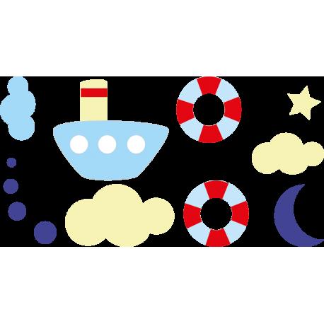 Marinero Composición Infantil adhesivo decorativo ambiente