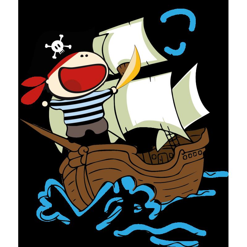 Vinilo piratas al abordaje - Piratas infantiles imagenes ...