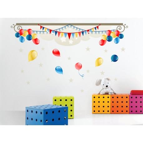 adhesivo decorativo Globos Composición Infantíl