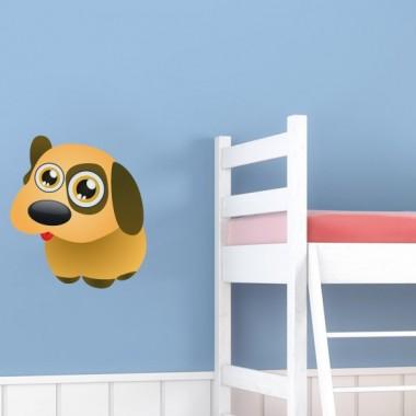 """Perrito """"Pupi"""" en Pegatina imagen vinilo decorativo"""