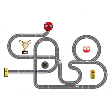pegatina decorativa Circuito Formula 1