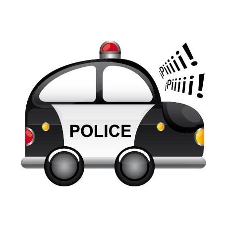 Coche Policia imagen vinilo decorativo