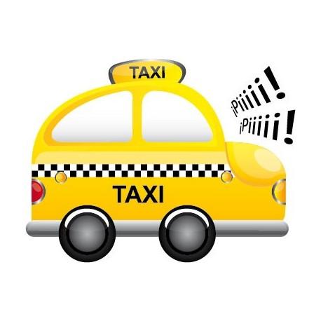 Taxi decoración con vinilo