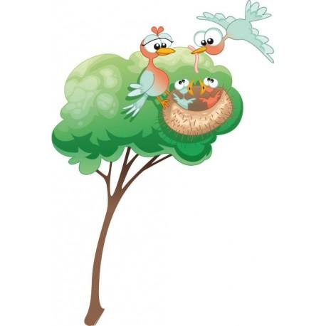 pegatina decorativa Nido en Árbol