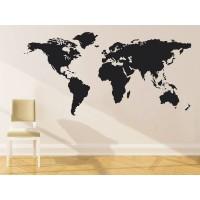 Mapa del mundo-vinilos baratos