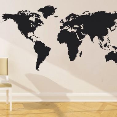 Mapa del mundo-vinilos baratos decoración con vinilo