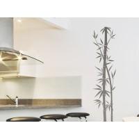 Bambú rama en gris-vinilos baratos