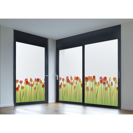 vinilo para ventanas Vinilo translúcido impreso Tulipanes