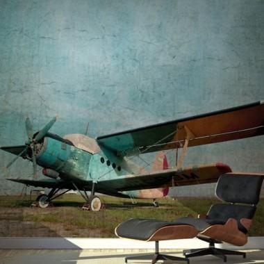 visualización fotomural Fotomural Avión Vintage