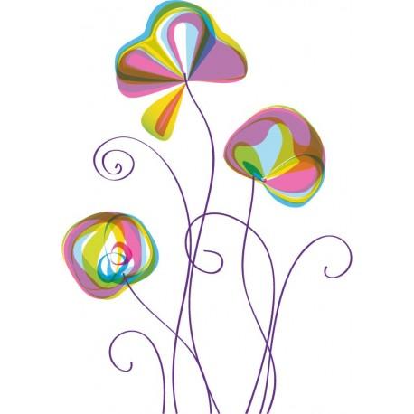 vinilo para ventanas Vinilo Flor II para Cristal Decoración