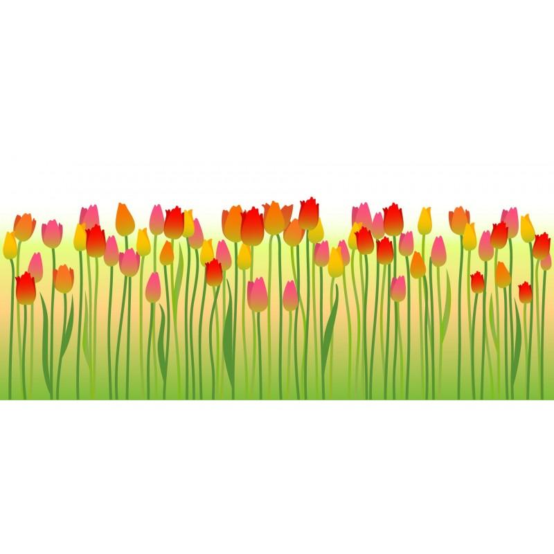 Vinilo tulipanes para cristal decoraci n for Adhesivos para cristales