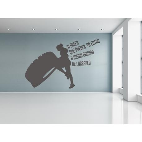 CrossFit 03 adhesivo decorativo ambiente