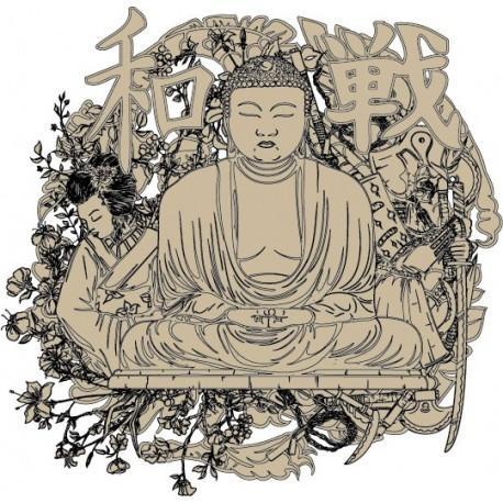 pegatina decorativa Buda para Pared