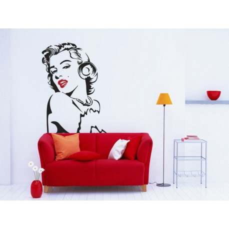 pegatina decorativa Marilyn labios rojos