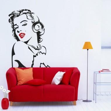 vinilos imagen producto Marilyn labios rojos