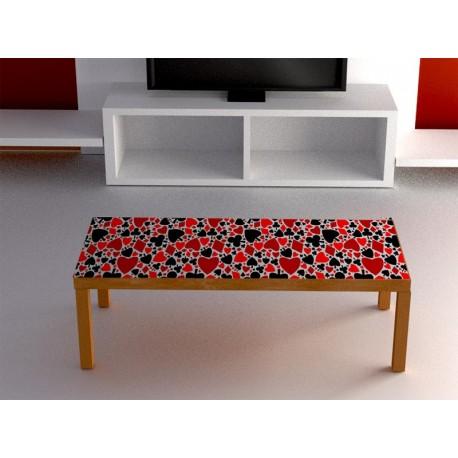 A medida modelo MES 14 Poker mesa en medidas de 80 x 40 cm adhesivo decorativo ambiente