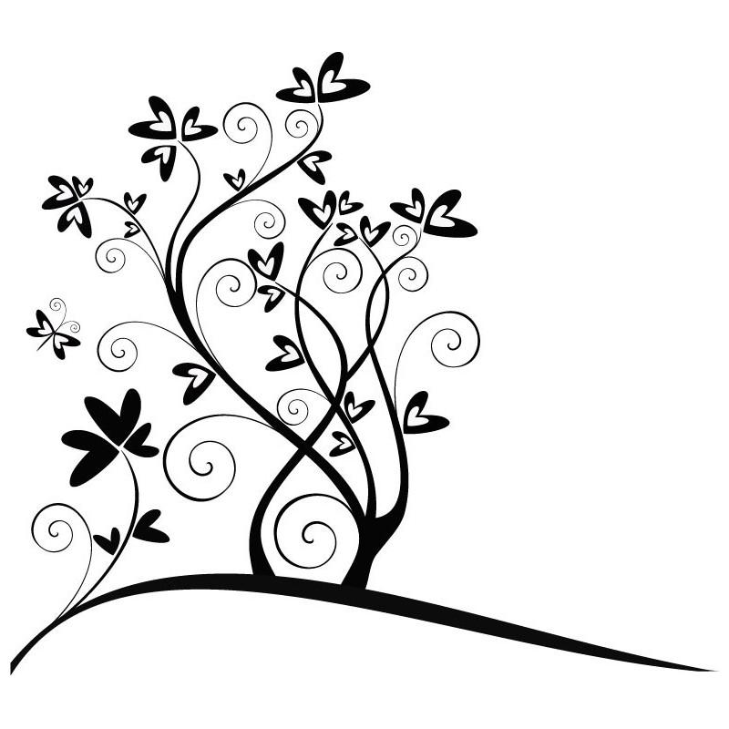 Vinilo corazones flor - Foto en vinilo ...