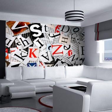 mural pared Fotomural Letras Prensa