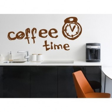 pegatina pared Coffee Time -Vinilos baratos