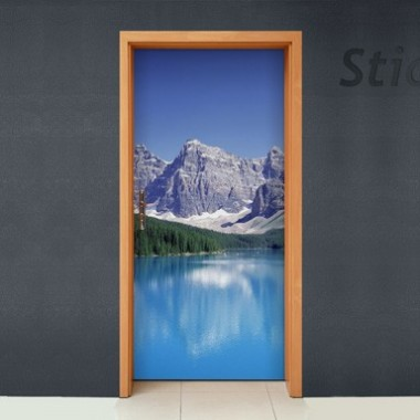 Vinilo Paisaje montaña para puerta-vinilos-decorativos