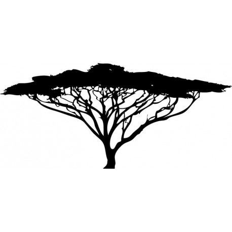 Árbol África imagen vinilo decorativo