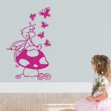 vinilos imagen producto Vinilo Infantil Duende Mariposas