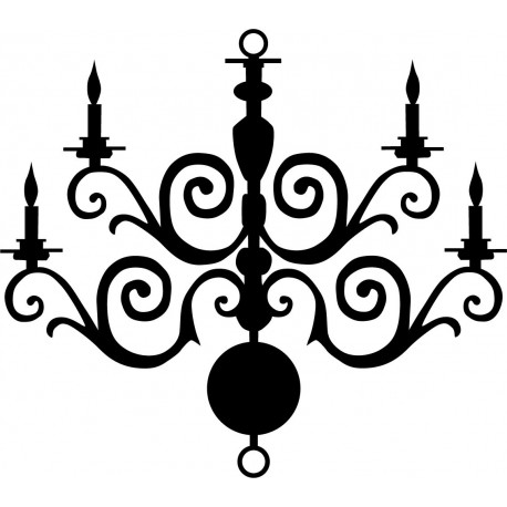 vinilo decorativo Lámpara de Araña Romántico