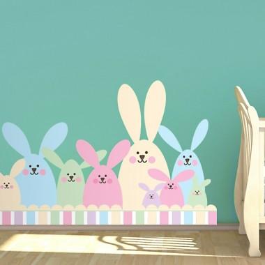adhesivo decorativo Conejitos Preescolar
