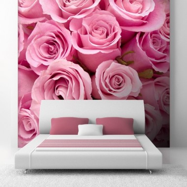 pegatina pared Fotomural Rosas Rosa