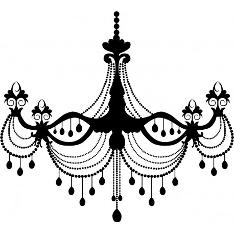 Lámpara Araña Belle Epoque decoración con vinilo