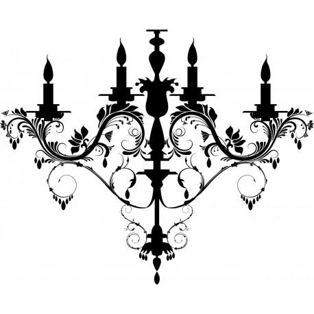 Lámpara Araña Luis XV decoración con vinilo