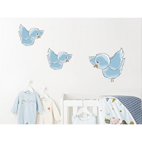 vinilo-infantil-pajaritos-azul-peg520