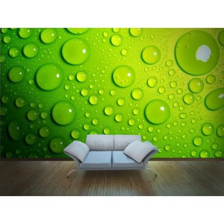 pegatina pared Fotomural Gotas de Agua
