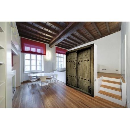 Fotomural Puerta Rústica decoración con vinilo