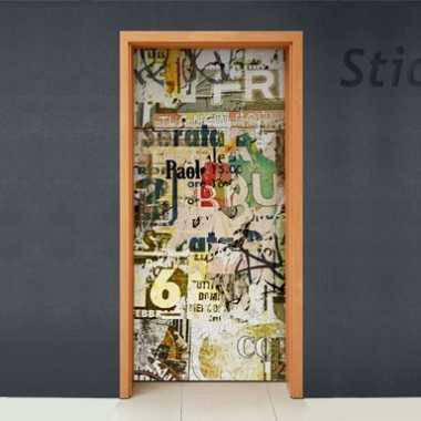 Puerta Vintage Collage adhesivo decorativo ambiente