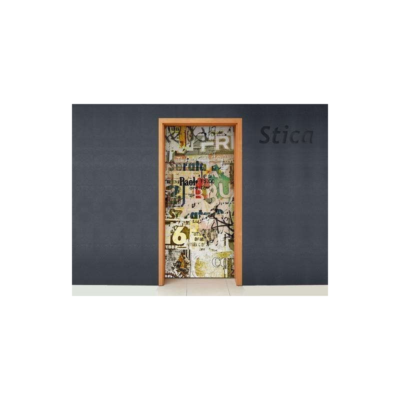 Vinilo puerta vintage collage for Puertas vintage
