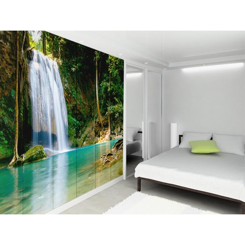 Fotomural paisaje cascada for Vinilos murales paisajes