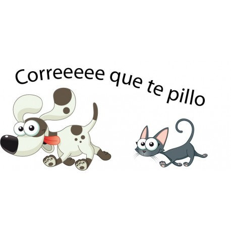 vinilos imagen producto Nombre Perro Gato para Cabecero