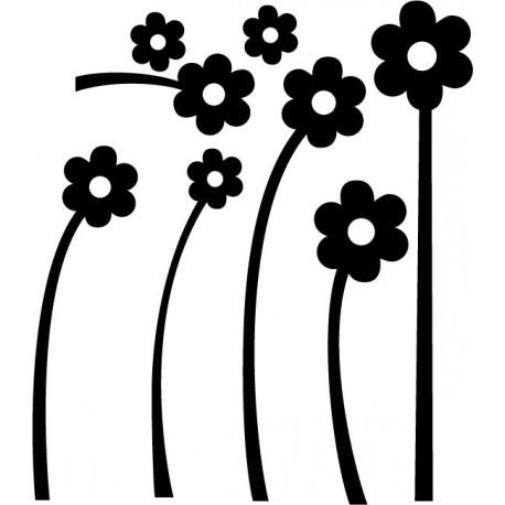 Flores Blancas Composición producto vinilos