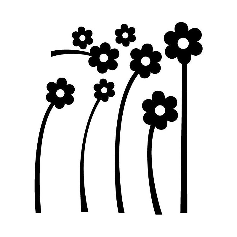 Vinilo flores blancas composici n for Vinilo blanco pared