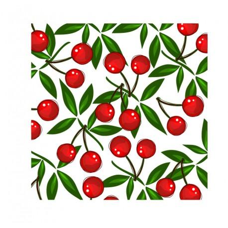 Cerezas Mesa 55 x 55 decoración con vinilo