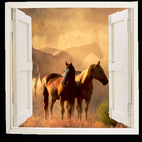 ventana simulada con paisaje ven06